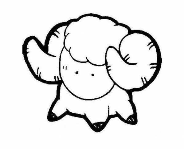 白羊座简笔画童话小白羊简笔画图片 驴宝宝文章网
