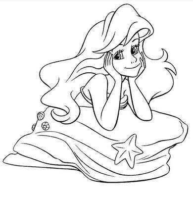 儿童画美人鱼公主 美人鱼公主简笔画