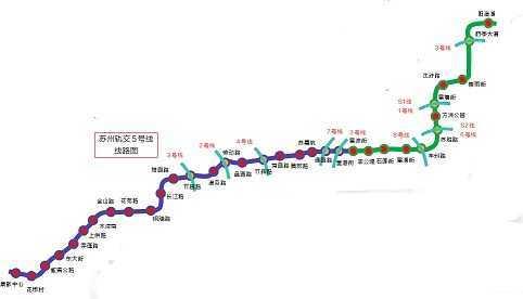 苏州3号线地铁线路图 一张图看明白苏州地铁走向图片
