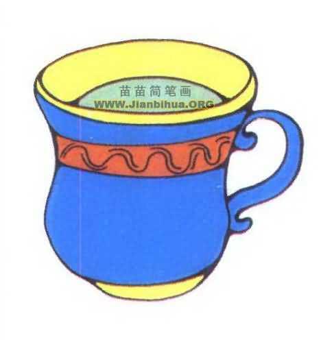 镂空杯子简笔画
