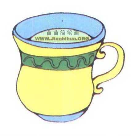 桌椅茶杯简笔画