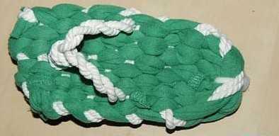 手工布艺拖鞋 使用旧衣服DIY布拖鞋图片