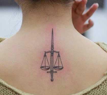 天枰座纹身图案 适合天秤座女生的幸运纹身图案图片