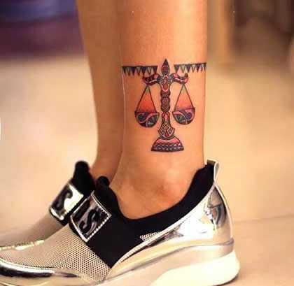 天枰座纹身图案 适合天秤座女生的幸运纹身图案
